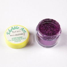 Disco Mulberry Redish-Purple glitter color NON Edible