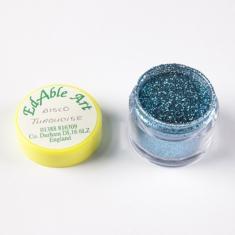 Disco Turquoise glitter color NON Edible