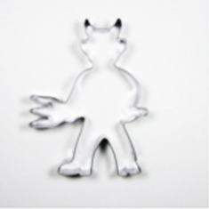 Little Devil Metallic Cookie Cutter 9,2x6,9cm