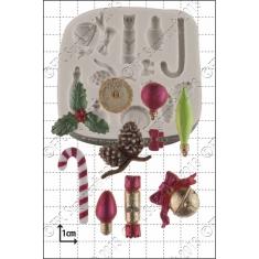Μινι Χριστουγεννιάτικα Διακοσμητικά - Καλούπι Ζαχαρόπαστας - Σοκολάτας της FPC