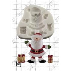 Άγιος Βασίλης με δώρα - Καλούπι για Ζαχαρόπαστα - Σοκολάτα της FPC
