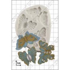 Καλούπι Σιλικόνης της FPC -  Κεντητές Πεταλούδες (Filigree Butterflies)