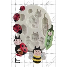 Peapod Baby & Ladybirds Silicone Mould