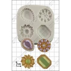Καλούπι Σιλικόνης της FPC -  Διακοσμητικές Καρφίτσες (Jewelled Brooches)