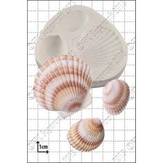 Καλούπι Σιλικόνης της FPC -  Μεγάλα Κοχύλια (Large Shells)