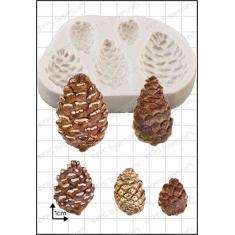 Καλούπι για Ζαχαρόπαστα - Σοκολάτα της FPC - Κουκουνάρια