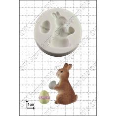Καλούπι για Ζαχαρόπαστα - Σοκολάτα της FPC - Πασχαλινό Λαγουδάκι με Αυγό