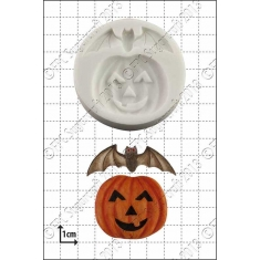 Pumpkin and Bat Silicone Mould