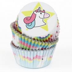 Θήκες για Cupcakes – Μονόκερος 60τεμ της PME