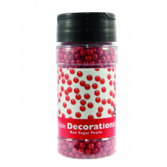 Sugar Pearls Red (100g / 3.5 oz)
