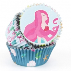 Mermaid Baking Cases by PME Pk/60