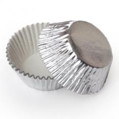 Silver Foil Cupcake Cases (51mm x 38mm) x 500 pcs