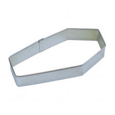 Metallic Cookie Cutter Coffin 4x1,75in