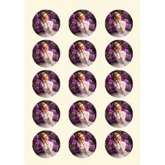 Προχαραγμένα Φύλλα Βρώσιμης Εκτύπωσης A4 Ζαχαρόπαστα (15 κύκλοι 5εκ)  24τεμ
