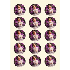 Pre-cut A4 Edible Printing Icing Sheets (15 Circles 50mm) 24pcs