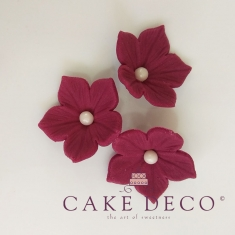 Violet Petunias with white pearl (30pcs) by Cake Deco