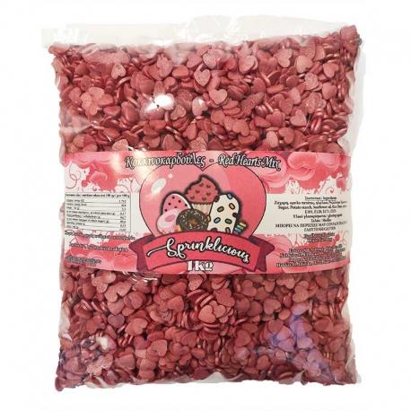 Red Heartwarmers - Sugar Sprinkles 1kg