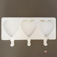 Παγωτό Ξυλάκι σε σχήμα καρδιάς Καλούπι Σιλικόνης