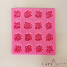 Silicone Mould for 16 Roses of 2,5cm