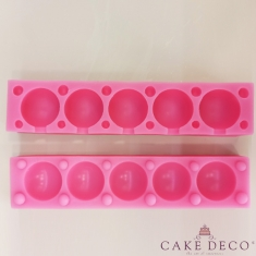 Silicone Mould for 5 Cake Pops/Lollies