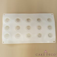 Silicone Mould for 15 Cake Pops flattened balls/Lollies