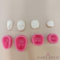 Silicone Mould Set for 10 Faces for figure modeling
