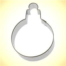 Metallic Cookie Cutter Round Ornament