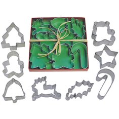 Metallic Cookie Cutter Christmas Set