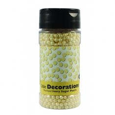 PME Sugar Pearls - Pearlized Ivory (100g / 3.5 oz)