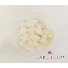 Φιογκάκια Λευκά 1,5-2,5εκ 9 διαφορετικά σχέδια 20τεμ.