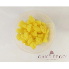 Cake Deco small Yellow Bows 1,5-2,5cm - 9 designs - 20pcs