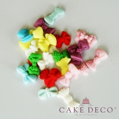 Cake Deco small Multi colored Bows 1,5-2,5cm - 9 designs - 20pcs