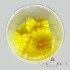 Yellow Bows 3,5cm 12pcs