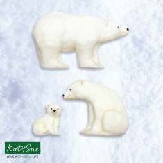 Polar Bear Family Silicone Mould by Katy Sue