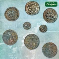 Treasure coins  Silicone Mould by Katy Sue