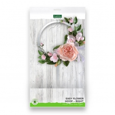 Easy Flower Hoop - Right - Mirror Silver Cake Topper Katy Sue