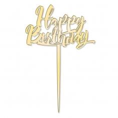 Happy Birthday Topper σε Χρυσό Καθρέπτη της Katy Sue
