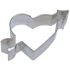 Metallic Cookie Cutter Heart With Arrow