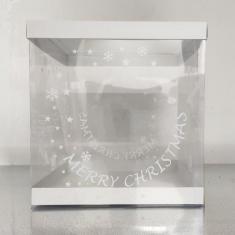 Εκτυπωμένο Κουτί 25xY26,5εκ. για Χριστουγεννιάτικα Σπιτάκια με Λευκό Καπάκι-Πατο