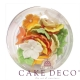 Cake Deco Colorful Petunias with White pearl in Spring Colors (30pcs)