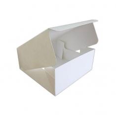 Λευκό Κουτί Γρήγορου Ανοίγματος για γλυκά 17,8 x 17,8 x Y7,6εκ.
