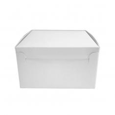 Λευκό Χάρτινο Κουτί για τούρτες και γλυκά 25,4 x 25,4 x Y7,6εκ.