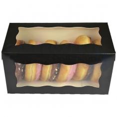 Μαύρο Κουτί  Ντόνατς / Γλυκών με παράθυρο 20,3 x 10 x 10εκ.