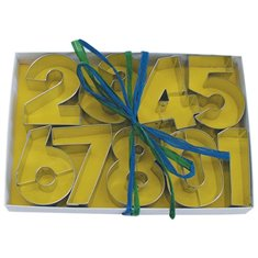 Metallic Cookie Cutter Numbers Set