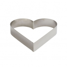 INOX Φόρμα - Τσέρκι Ψησίματος σε Σχήμα Καρδιάς της Decora - 14 x Υ4,5 εκ.