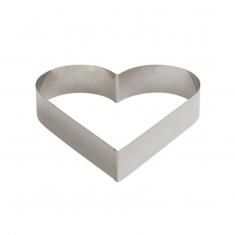 INOX Φόρμα - Τσέρκι Ψησίματος της Decora σε Σχήμα Καρδιάς - 18 x Υ4,5 εκ.