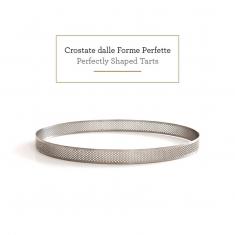 Διάτρητη Στρογγυλή INOX Φόρμα - Τσέρκι Ψησίματος - Δαχτυλίδι - 8 x 8 x Υ2 εκ.
