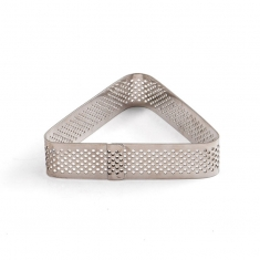 Oval Shaped INOX Perforated Form by Decora, 10 x 6 x h2 cm