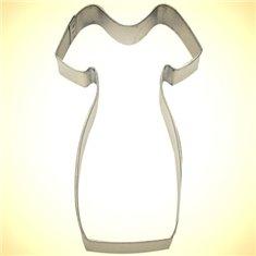 Metallic Cookie Cutter Little Black Dress