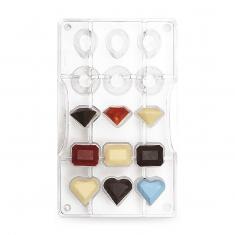 Πολύτιμοι Λίθοι καλούπι 15 θέσεων για σοκολατάκια της Decora